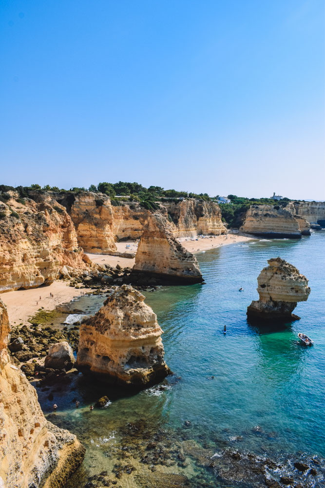 The gorgeous Praia do Marinha - a must see on any Algarve itinerary